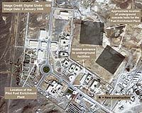 There are reasons to suspect that Iran's nuclear program is neither peaceful nor civilian. Its Natanz (pictured) facility will have 54,000 uranium enrichment centrifuges, and it has already put into operation two cascades with 164 centrifuges each. Iran intends to turn on all of the 54,000 centrifuges. What for? Photo courtesy AFP.