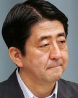 Japan's Prime Minister Shinzo Abe. Photo courtesy AFP.