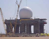 File image of a X-Band radar.