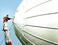 File photo of a moored Techsphere airship uav.